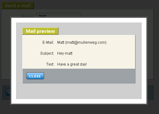 screenshot of mail preview