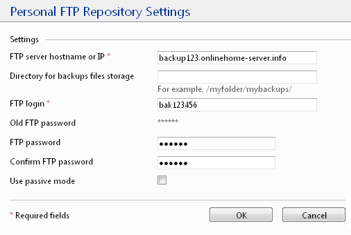 Personal-FTP-Repository-Settings