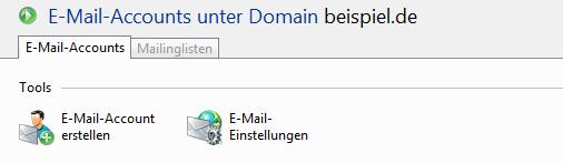 Plesk Domain - E-Mail-Accounts